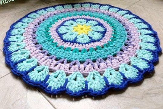 Схема вязания коврика: Вязане