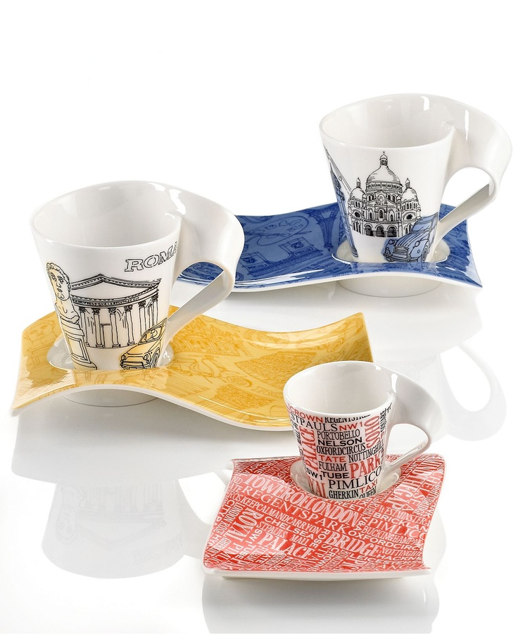 villeroy boch dinnerware new wave cafe cities of europe collection. Black Bedroom Furniture Sets. Home Design Ideas