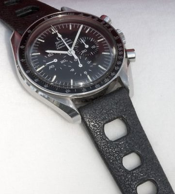 Black rubber 20mm #tropic #strap type vintage dive watch band #1960/70s big holes,  View more on the LINK: http://www.zeppy.io/product/gb/2/160877407913/