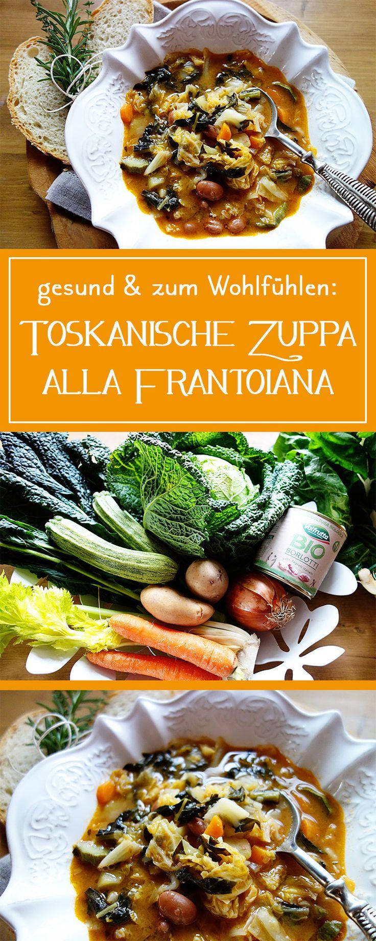 Toskanische Suppe alla Frantoiana - viel frisches Gemüse, herrlich cremig & dabei auch noch gesund & vegetarisch: das ideale Suppenrezept für kalte Tage!  | cucina-con-amore.de
