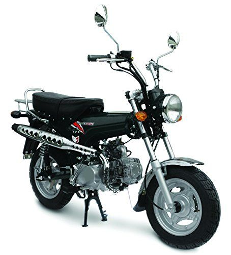 Gas Saving Mini Bike Trail Classic 125 Motorcycle - Multi Plate Wet Clutch. Message for Color Options: Black, Red. Model: Pitster Pro Classic 125 ST-125-6 - Bore and Stroke: 52.4 mm x 57 mm - Clutch: Multi Plate Wet Clutch - Compression Ratio: 9:1 - Engine: Four stroke 124cc SOHC air cooled. Ignition: Stator/ CDI with lighting coil - Starter: Electric & Kick - Transmission: 4 Speed Manuel Clutch. Curb Weight: 150 Lbs - Fuel Capacity: 1.5 Gallons and over 80 MPG! - Ground Clearance: 7.8...