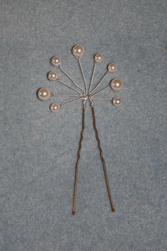 Ivory Pearl Fan Style Hair Pin
