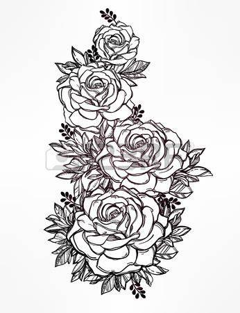 Resultado de imagen para dibujos de tatuajes rosas