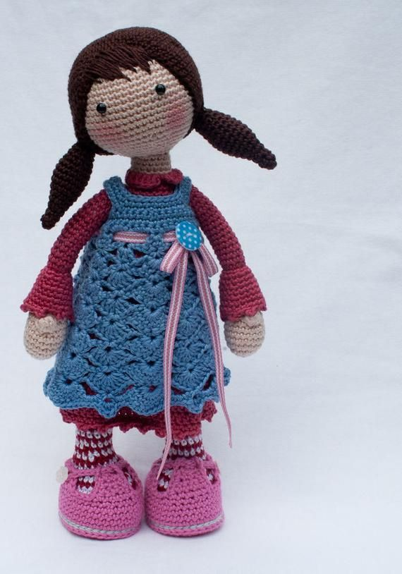 Crochet Pattern For Doll Celine Deutsch English Francais