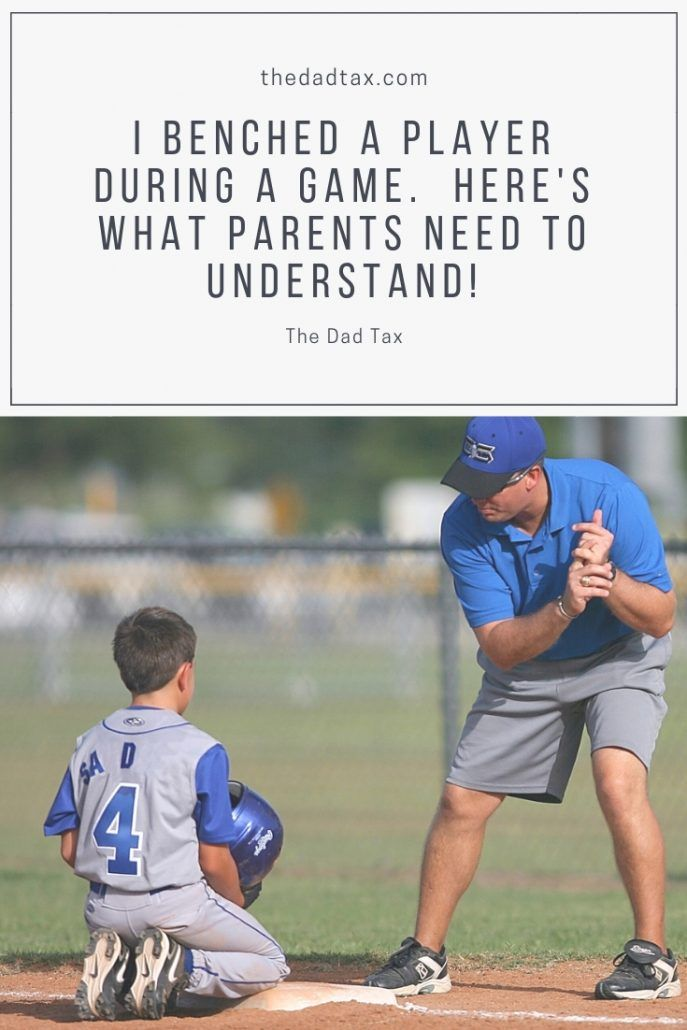 I Benched A Player Here Is What Parents Need To Understand Players Parents Dads