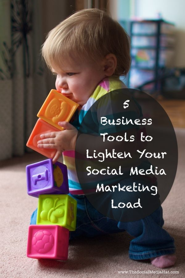 5 Business Tools to Lighten Your Social Media Marketing Load | #SocialMedia #Business #Apps