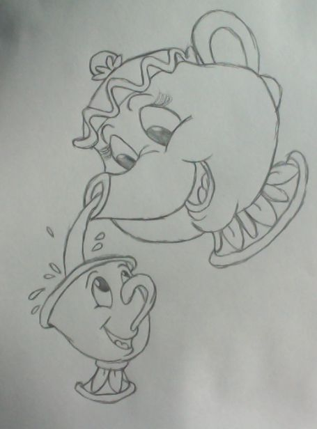 Mrs Potts and Chip by Sapphire-Rose15