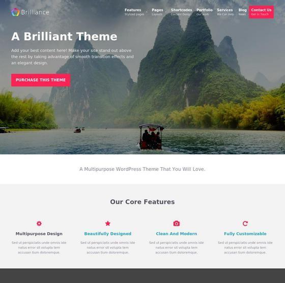 Brilliance шаблон WordPress