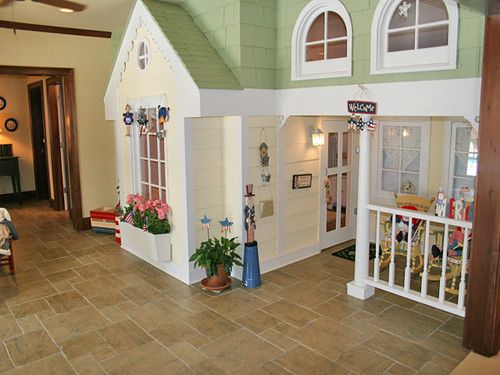 wooden playhouse indoor - Google Search