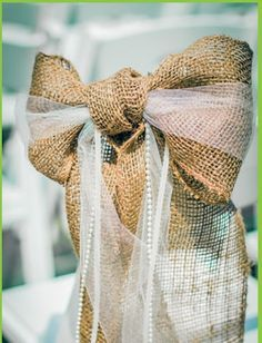tulle and burlap bows - Google Search