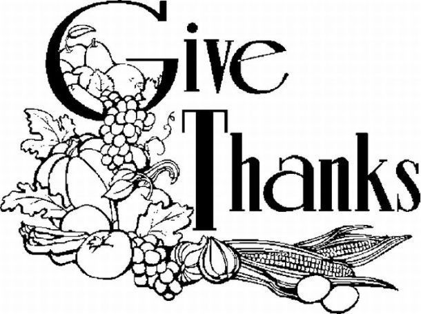 November Clip Art Black And White | Thanksgiving coloring ...