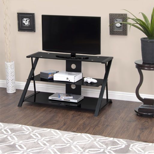 calico designs artesia 38inch black tv stand shopping the