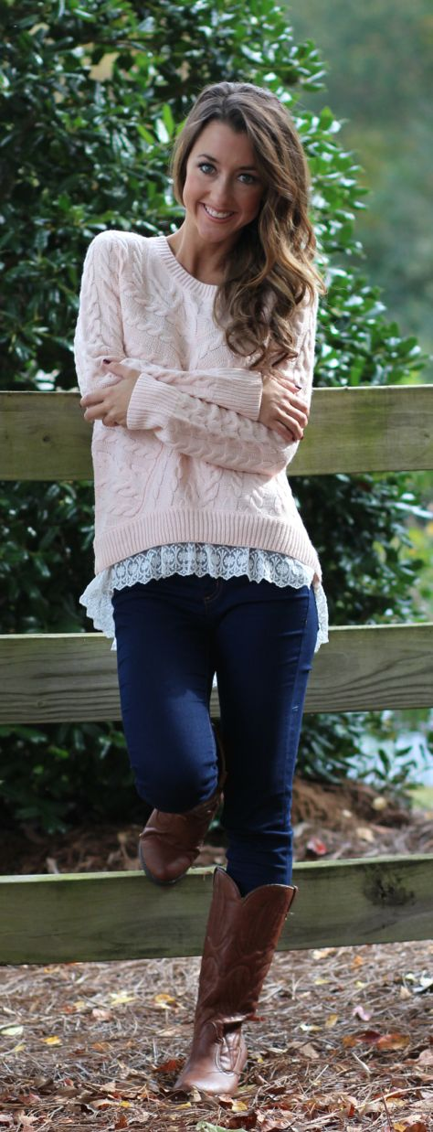 On Wednesday's we wear PINK.....and Mondaydress.com of course! Get this pretty pink rose sweater from mondaydress.com now!