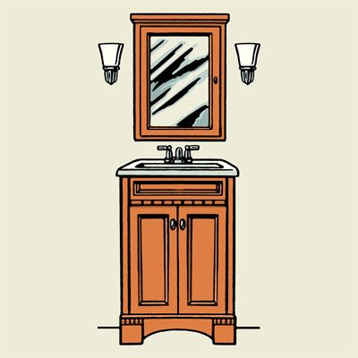 How High Do You Hang Vanity Lights : Read This Before You Redo a Bath Vanities, The wall and Eyes