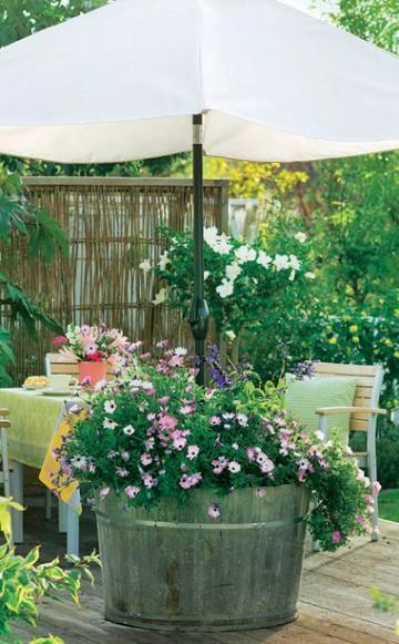 Bepflanzbarer Sonnenschirmständer