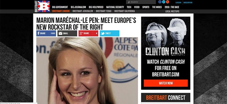 Breitbart News likes the french fascist extrem right, editorial with Marion Maréchal-Le Pen.