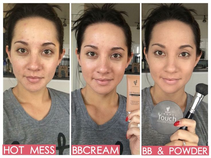 BB cream and touch powder from Younique