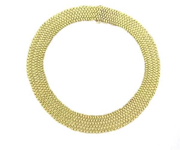 Massive 14k Gold Weave Necklace Available in the April 27 Auction on hamptonauction.com !!
