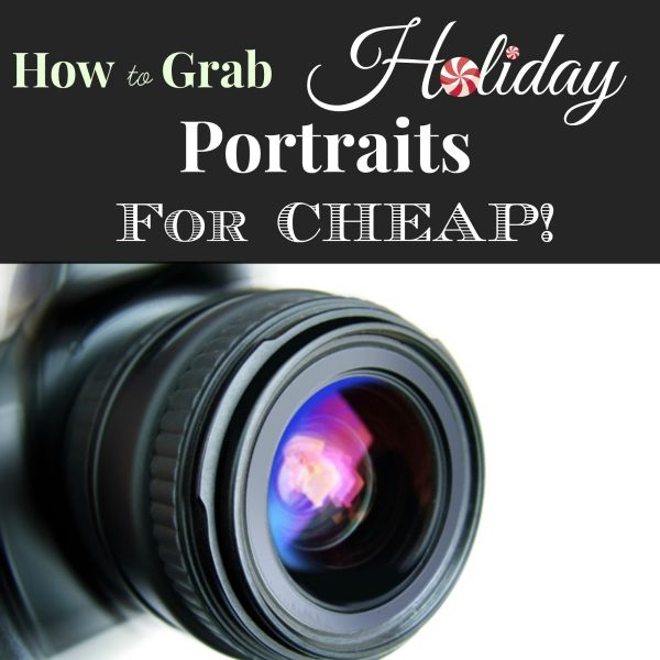 Do holiday portraits for your kids and family create a pinch in your budget? Try these tips to help you grab some holiday portraits---for cheap!