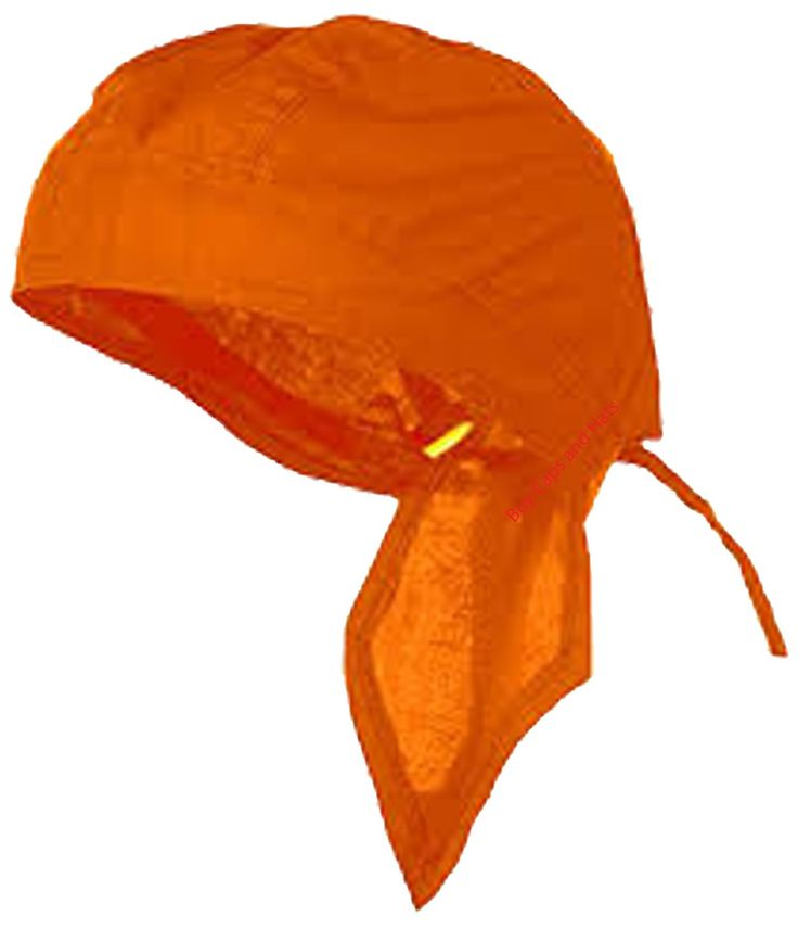 BLAZE ORANGE Doo-Rag Skull Cap Solid Du-Bandana Motorcycle Helmet Liner Chemo Head-Scarf