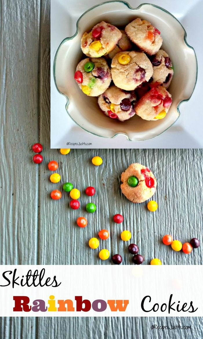 These Skittles sugar cookies have a burst of fruity taste in each delicious bite. They are the perfect blend of crunchy, sweet, fruit and sticky goodness.  recipesjust4u.com