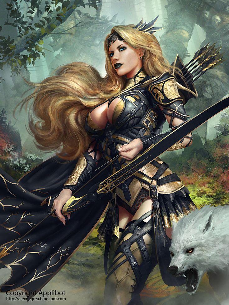 379 best fantasy art warriors hunters ii images on - Fantasy female warrior artwork ...