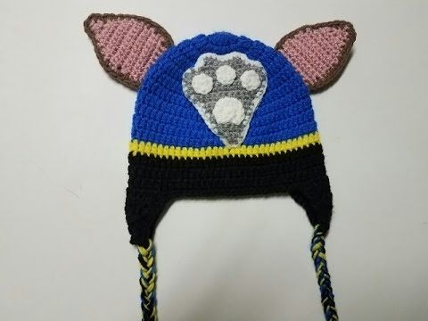 Gorro de Chase Patrulla Canina a crochet. Crochet Chase hat from Paw Pat...