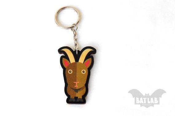 Animal Keychain from wood Kri kri keychain Animal lovers by BatLab