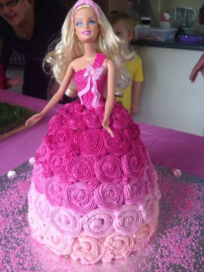 FAILSAFE (or close) decorated cakes: Dolly Varden Barbie by Prue