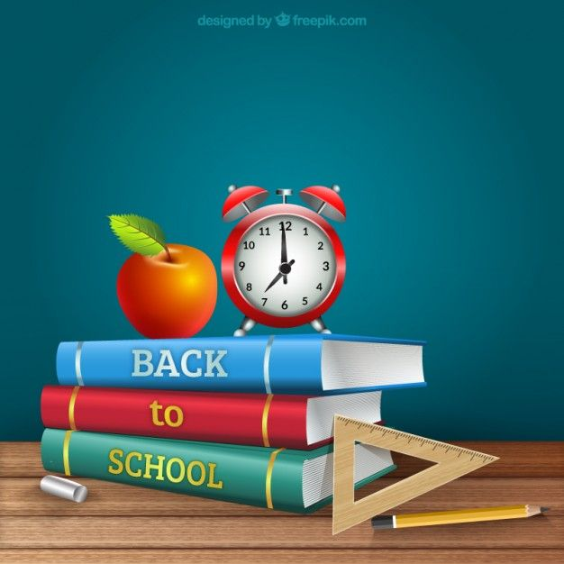 Free vector Realistic back to school books #15894