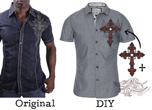 Embroidered shirt diy this tutorial gives the design