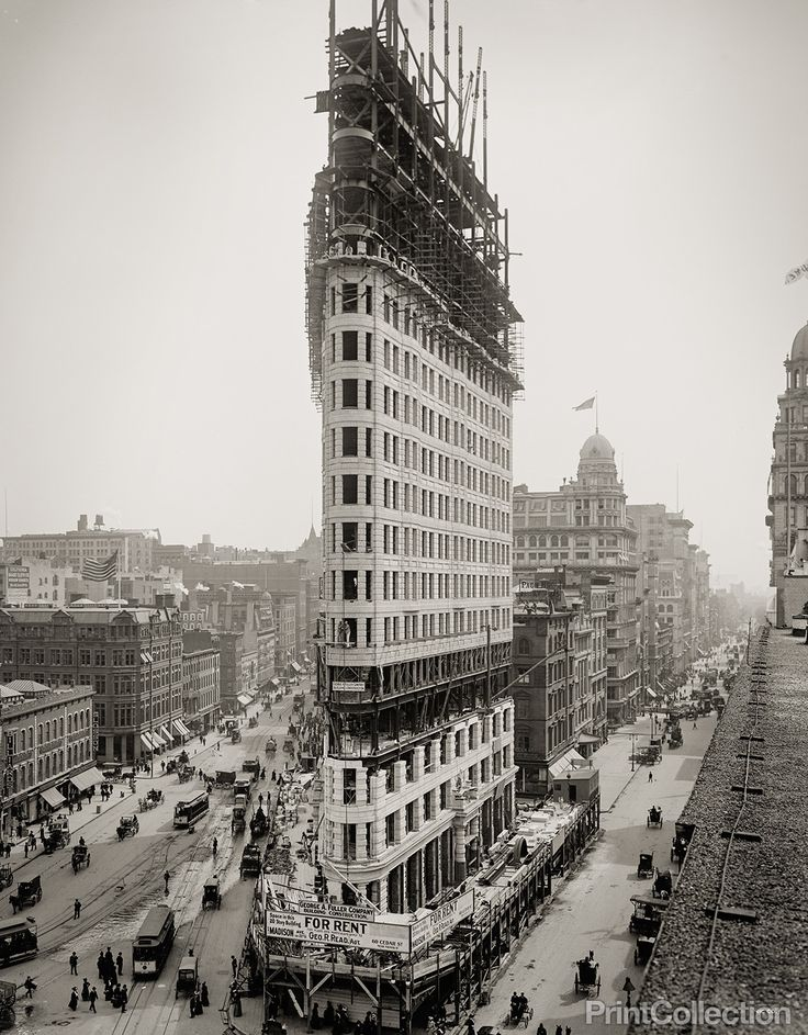 FlatIron Building Under Construction, New York, N.Y., 1902