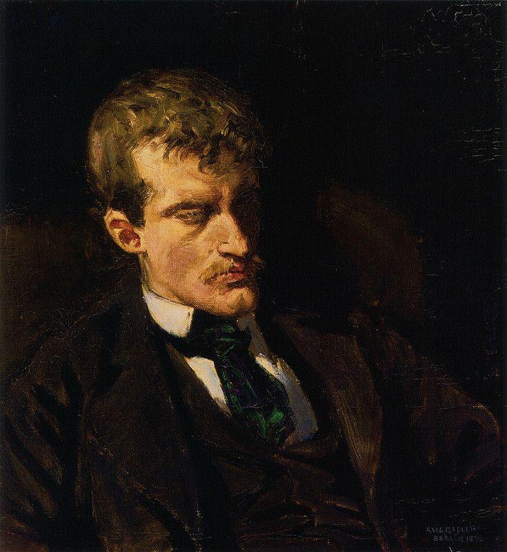 Gallen-Kallela, Akseli (1865-1931) - 1895 Portrait of the Artist Edvard Munch (Ateneum Art Museum, Helsinki, Finland) | by RasMarley