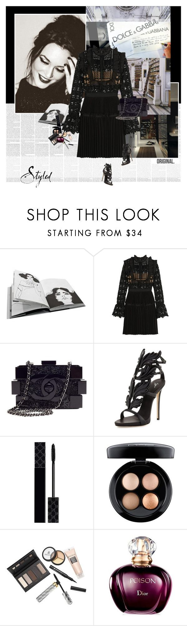 """""""Leighton Meester"""" by stephaniee90 ❤ liked on Polyvore featuring Spy Optic, GESTALTEN, self-portrait, Chanel, Giuseppe Zanotti, Gucci, MAC Cosmetics and Borghese"""