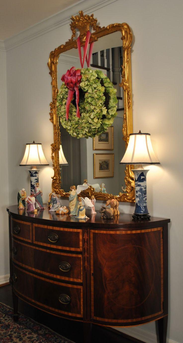 1000 Ideas About Wreath Over Mirror On Pinterest