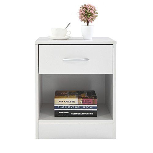 Hmhome Night Stand 2 Layer W Drawer Bedside End Table Nightstand