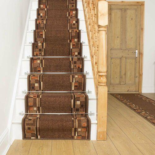 Best Rosalind Wheeler Alkmaar Looped Dark Brown Stair Runner Outdoor Carpet Indoor Outdoor Carpet 400 x 300
