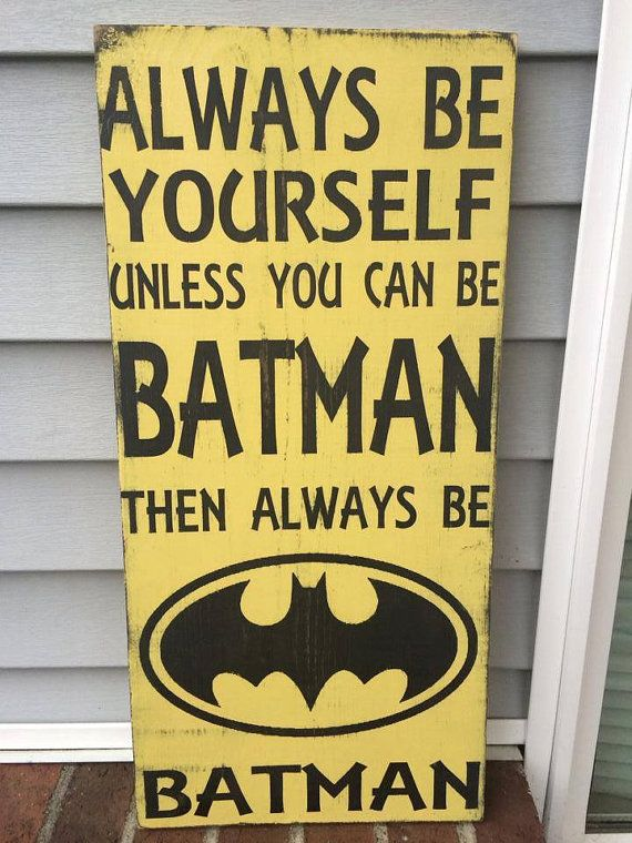 Batman Sign by gracefullyjaded on Etsy, $35.00