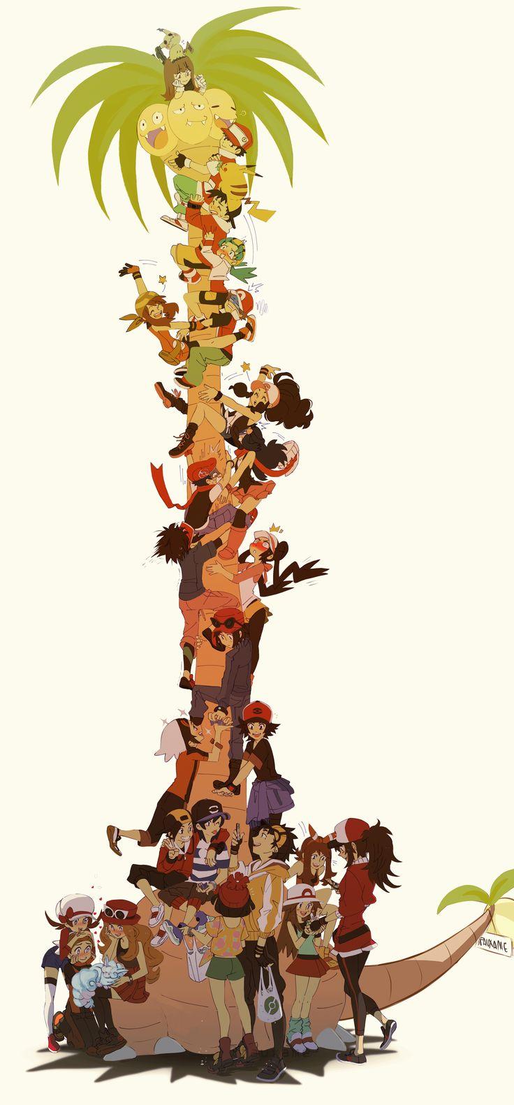 All Pokémon Protagonist and New generation - Zerochan