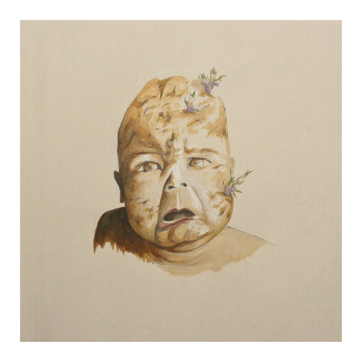 Solanum tuberosum puer o Niño patata. Acrílico sobre papel.Isabel Quiles