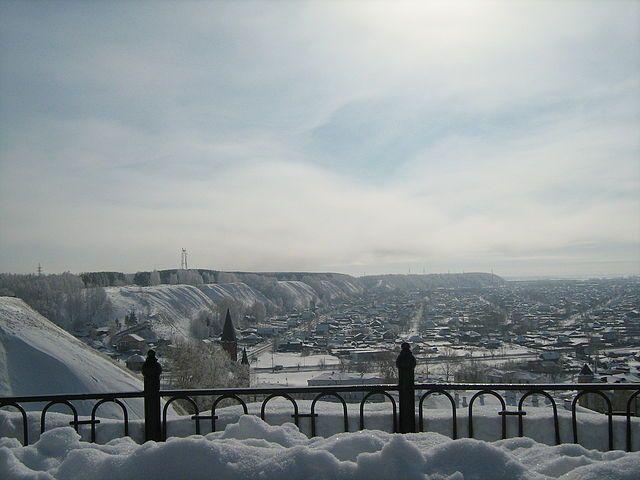 Тобольск, вид на нижний город