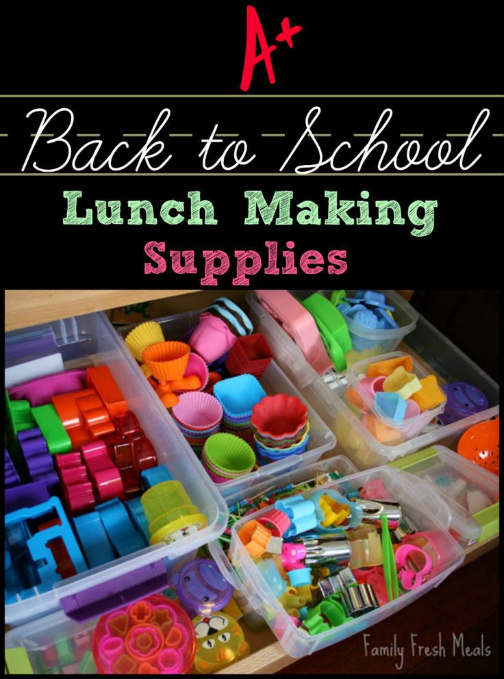 Back to School Lunch Supplies