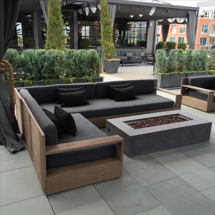 ... outdoor furniture outdoor couch outdoor living rooftop firepit