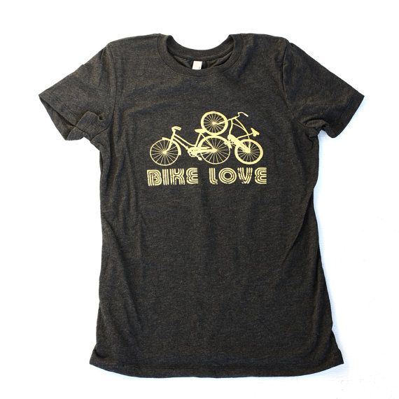 Superb Bike Love gold screen print tshirt