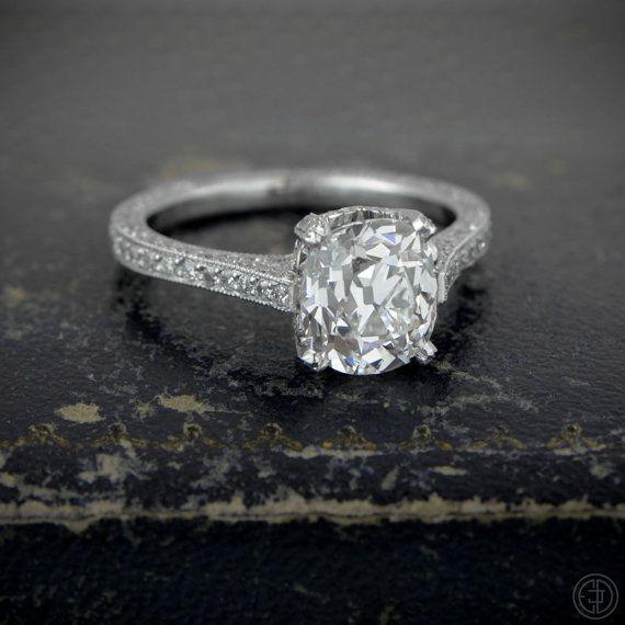 vintage engagement ring 2 25 carat antique