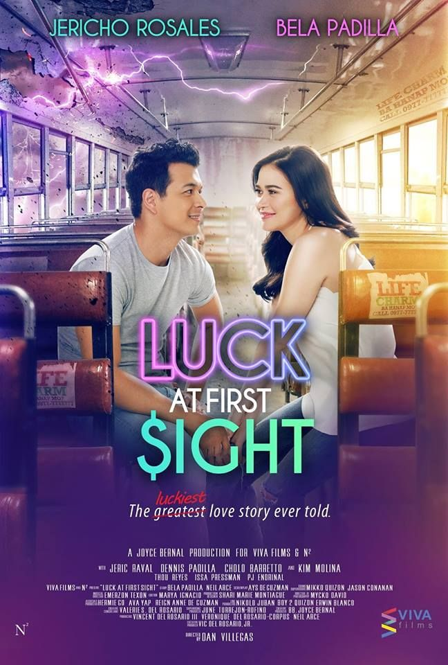 """#LuckAtFirstSight     Joma Labayen (Jericho Rosales) believes that a """"life charm"""" would help him win money to pay his debts. He accidentally meets Diane Dela Cruz (Bela Padilla), who gives him luck only when they are close to each other. Diane doesn't believe this at first, but left with no choice, she eventually goes along with Joma's belief. Everything goes well for them until they discover that their luck will disappear if one of them falls in love with the other.  Subscribe: pino"""