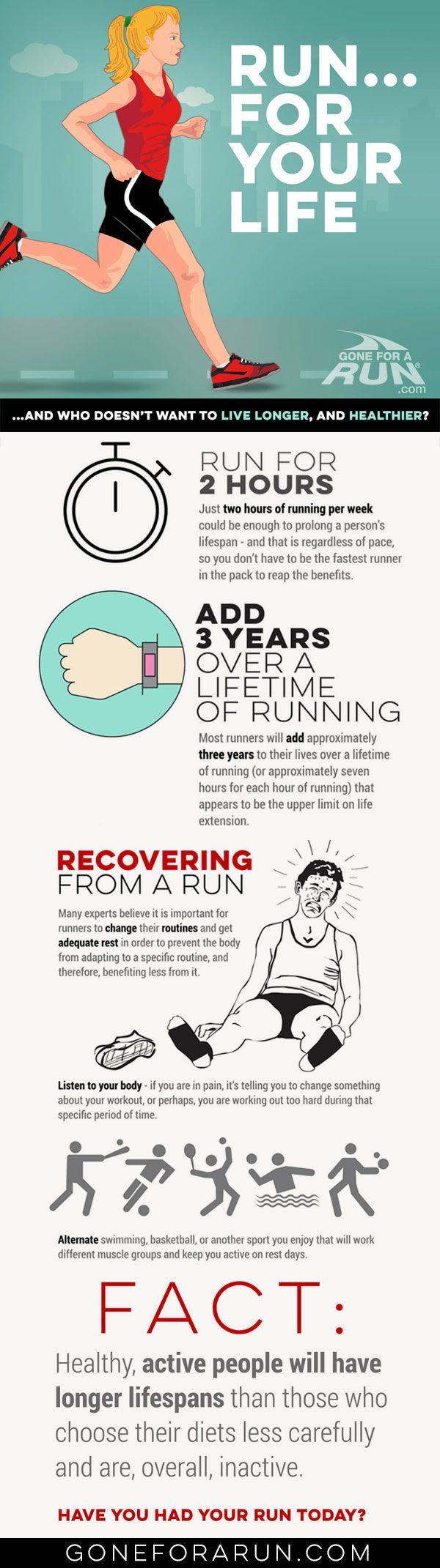 In it for the long run...! How running helps improve your everyday routines as well as help add more years to your life!