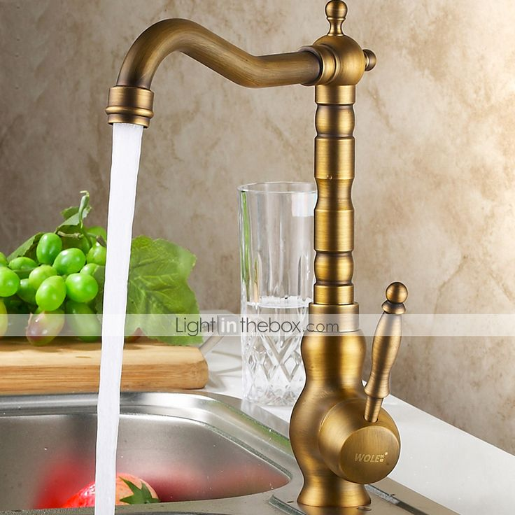 Centerset Antique Brass Kitchen Faucet 2015 – $101.99