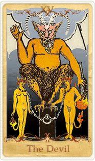 The Devil Tarot Card based on Rider-Waite