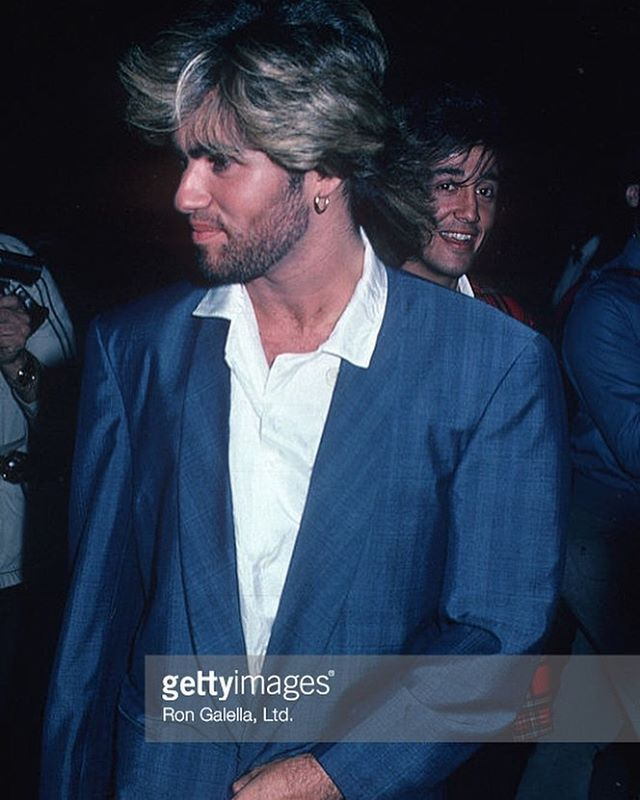 George Michael and Andrew Ridgeley during Apollo Theater 50th Anniversary at Apollo Theater in New York City, New York, United States. #georgemichael #apollotheater #newyorkcity #andrewridgeley #wham